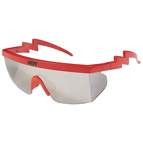 Neff Men's Brodie Single Lens Shades Sunglasses Red
