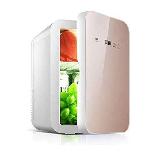 XTZJ Mini refrigerador de 8 litros, 10 puede enfriador portátil AC / DC y calentador con pantalla digital y control de temperatura, refrigerador compacto para dormitorio, oficina, cuidado de la piel,