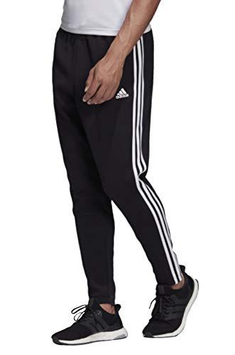 adidas Herren 3-Streifen Tapered Hose, Black/White, XL