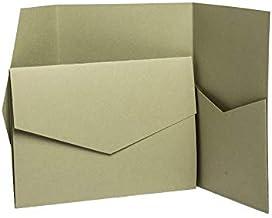 Perlglanz 185 x 130 mm Champagnerfarben champagnerfarben Pocketfold Invites Ltd Einladungskarten