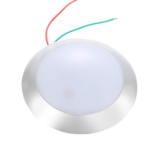 AOHEWEI Luz Interior Coche LED Iluminación Interior 12V Con Interruptor De Sensor Soporte De Galjanoplastia Para Auto Caravana RV Cámping Barco (plata)