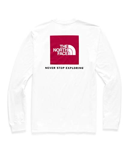The North Face Men's Long Sleeve Red Box Tee, TNF White/TNF Red, M