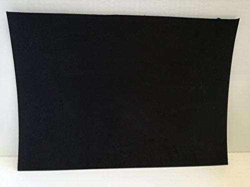 Gerberei Schachenmayr Leder 24x34 cm großer Lederzuschnitt, Spalteder, schwarz Dickleder, kräftige, pflanzlich/vegetabil gegerbte, mit ca. 3 mm Stärke