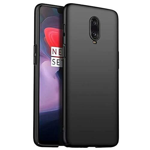 NiaCoCo Compatible con Funda OnePlus 6T Silicona para PC A Prueba de choques Ultra Delgado Anti-rasguños Estuche Protector para OnePlus 6T-Negro