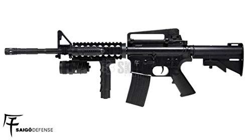 SAIGO- Airsoft Rifle-M4 RIS Defense a muella (Spring) Calibre 6mm. Potencia 0,5 Julios