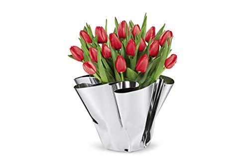 Philippi - Margeaux Vase - Edelstahlvase von Hand gefaltet - ideal für Tulpen, Rosen, Dekoobjekt