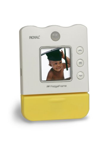 Royal Machines PF FridgeFrame 1.5-Inch LCD Viewer Personal Digital Picture Frame with Magnetic Back, Motion Sensor and Paper Holder