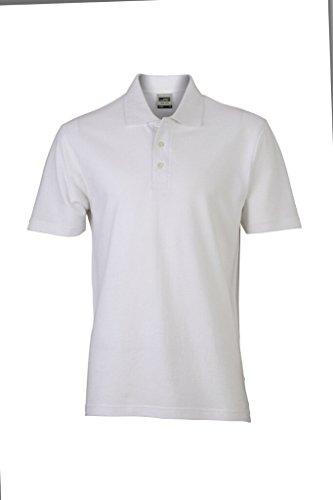 JAMES & NICHOLSON Polo Piqué Classique (3XL, Blanc)