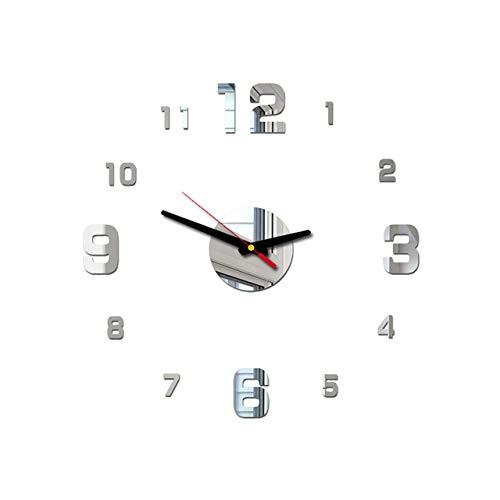 Arabische Ziffern Wanduhr Modernes Design Acryl Spiegeluhren Aufkleber Wohnzimmer Zubehör Dekorative Hausuhr horloge