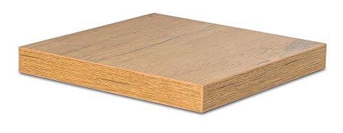 levandeo Eckregal Wildeiche Eiche 32x32cm Wandregal Holz Dekor Regal Eckboard Ablage Board Ecke