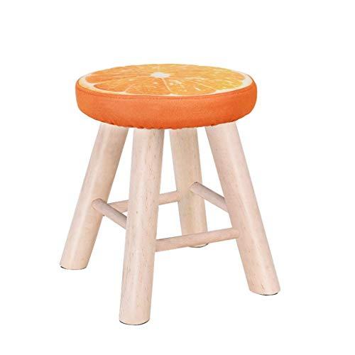 JY&WIN taburetes Circulares de Madera Maciza y Creativo aparador de Cuatro Patas Restaurante Alto 35 * 28 cm, Capacidad de Carga 100 kg (Color: # 6)
