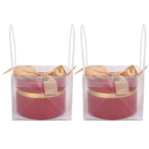 HERCHR 2Pcs Cylinder Gift Box, Portable Exquisite Candy Favor Boxes with Ribbons for Birthday/Wedding/Party/Banquet (wine Red M)