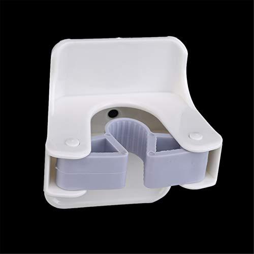 unknow Meitanyuan Anti-Rutsch-Besenhaken Badezimmerschrank Werkzeuge Wandhalterung,Weiß