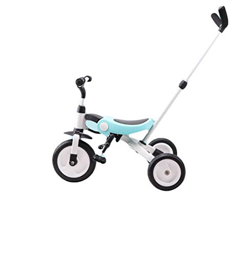 Kinderautoped Balance Car Driewieler Drie-in-één kinderwagen Scooter,Blue