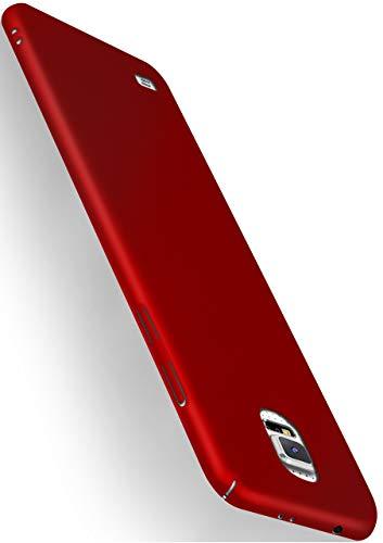 MoEx® Alpha Case kompatibel mit Samsung Galaxy S5 Hülle Dünn   Ultra-Slim Handyhülle - Metallic Schutzhülle Handy Cover, Matt Rot