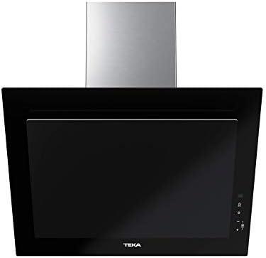 Teka | Campana decorativa vertical de aspiración perimetral y función FresAir en 60cm | DVT 68660 TBS | Tres velocidades | Color negro