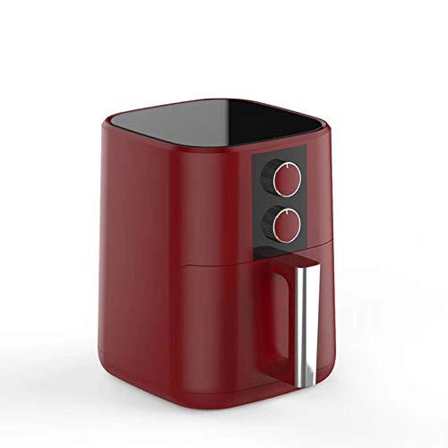 KT Mall Air Fryer pour Noël 5L Mise Hors Tension Automatique sans Huile Friteuse à 360 ° Multifonctions Circulating air Chaud et Non-adhérent Revêtement Friteuse électrique Rouge 1350W