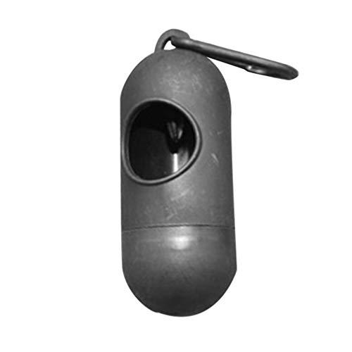 Caja de Bolsa de pañales Colgante de plástico portátil Caja de Almacenamiento de Bolsa de Basura de Basura de bebé (Negro)