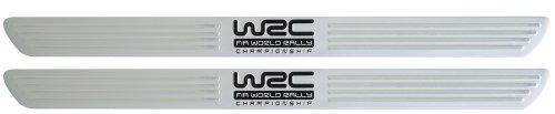 Kaufmann WRC Neuheiten WR-KFZ-377 - Bandas Adhesivas para umbral de Puerta de Coche (Aluminio, 2 Unidades), Color Plateado
