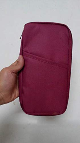 Folder Documententas, multifunctioneel, lange hak, tickethouder, drukkaart, pakket, paspoort-bestand pakket ritssluiting, rode wijn zonder logo, Spanje