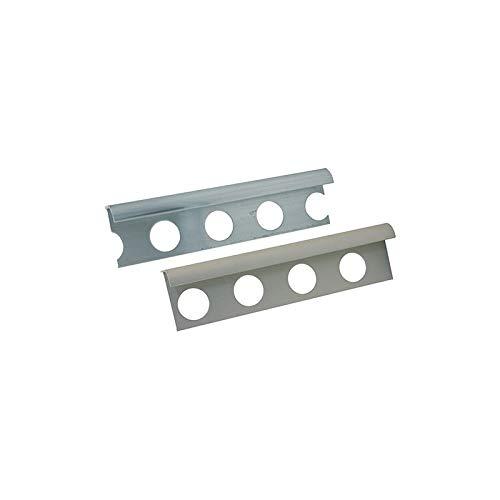 Perfil Jolly para azulejos de aluminio, con bordes redondeados, ancho 27 mm.