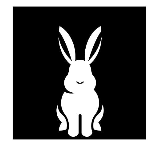 MDGCYDR Pegatinas Coche Personalizadas 6,7 Cm * 15,8 Cm Conejo De Dibujos Animados Patrón De Decoración Encantadora Pegatina De Coche Calcomanía De Vinilo para Maletero De Coche Negro/Plata
