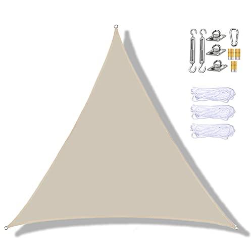 Parasol Vela,Triángulo Camper Sombrilla,Protección Solar Patio Toldo,Simple Cubierta,Jardín Piscina Playa Protección Solar Herramientas,Beige-2 * 2 * 2m