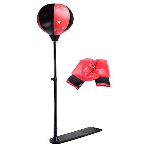 GAOword Verstellbarer Fitnessboxen Boxsack-Boxen Birne Speed Ball-Boxen Boxsack Kinder Speed Bag Kinder + Handschuhe + Pumpe + Base + Stange