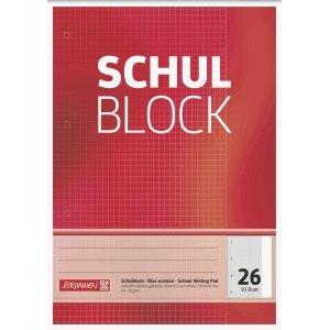 Brunnen 10 x Schulblock A4 kariert Lineatur 26 4-fach gelocht 50 Blatt