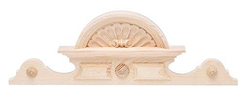 aubaho Schrankkrone Holz Schrank Aufsatz Krone 20cm x 63cm Bekrönung antik Stil