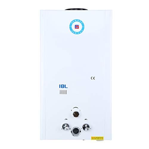 Samger 18L Instantaneo Calentadors de Agua LPG Calentador de Gas sin Tanque Petroleo Licuado Quemador de Agua Caliente