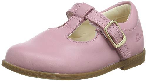 Clarks Mädchen Drew Shine T Geschlossene Ballerinas, Pink (Dusty Pink Lea Dusty Pink Lea), 23 EU