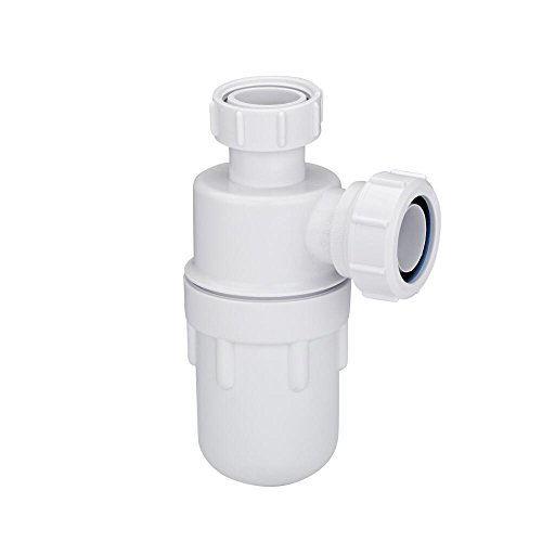 McAlpine Ablaufgarnitur Waschbecken Bodenablauf Tassensiphon - aus Polypropylene - Perfekt v.a. für kleine Waschbecken