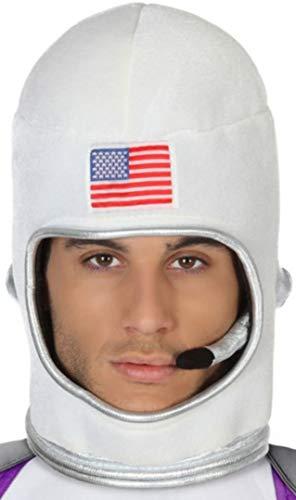 Atosa-42428 Casco Astronauta, color blanco, nica (42428)