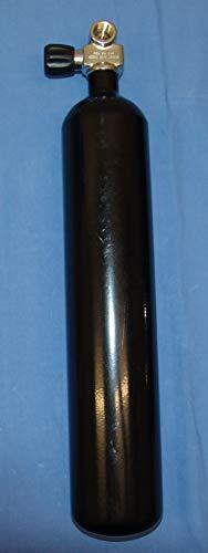 HTD Tauchflasche 3 Liter 230bar Breathing Apparatus komplett mit Ventil schwarz