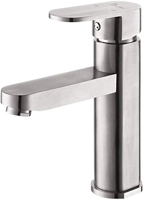 304 edelstahl gebürstet bad hei und kalt becken wasserhahn einzigen loch unter aufsatzbecken waschbecken wasserhahn