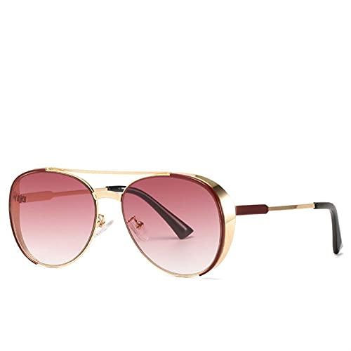 AMFG Chapa de metal retro Gafas de sol Personalidad Toad Marco Gafas de sol Mujeres y hombres Moda Gafas de sol (Color : A)