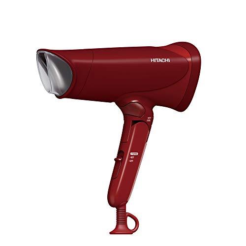 日立 ヘアドライヤー マイナスイオン 大風量1.9㎥/分 独立温冷切替ボタン 持ちやすいハンドル形状 HID-T600B R レッド