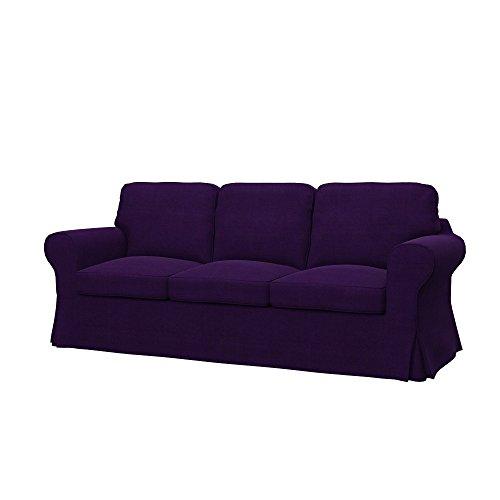 Soferia Fodera Extra Ikea EKTORP Divano a 3 posti, Tessuto Elegance Purple