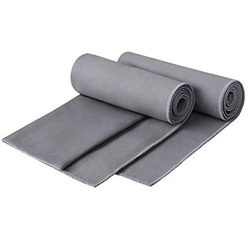 KEAFOLS Asciugamano Microfibra 2 Pezzi 30x50cm Asciugamani Microfibra Telo Microfibra-Ultraleggeri e ad Asciugatura Rapida-Asciugamano Sport