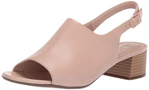 Clarks Women's Elisa Kristie Heeled Sandal, Blush Leather, 085 M US