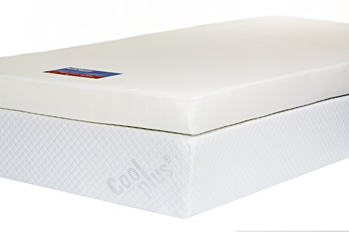 Southern Foam 4-Inch Memory Foam Mattress Topper including Luxurious Cover, Double, White