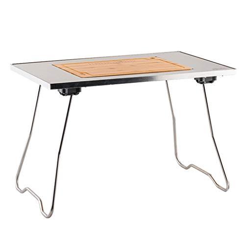 Mesa plegable portátil de picnic con patas de aluminio y altura ajustable, para camping, banquete (color: B)