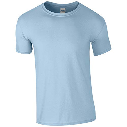 Gildan Softstyle T-Shirt ringgesponnen GD01- Herren M - Hellblau