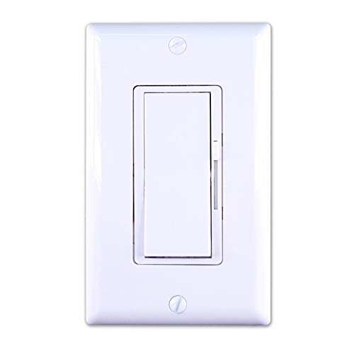 Dimmer Switch; for dimmable LED, Halogen Lamps and Incandescent Bulbs (White) (1)