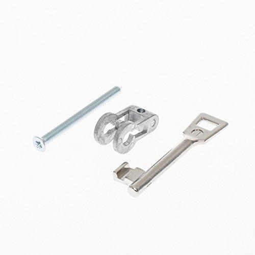 Buntbarteinsatz für Einsteckschlösser mit PZ-Lochung - 10 verschiedene Schweifungen auswählbar - zum Nachrüsten - inkl. 1 Schlüssel und Befestigungsschraube