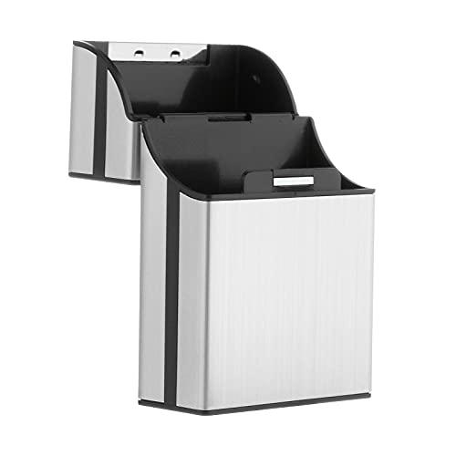 Caja de cigarrillos de aluminio caja dura y soporte con tapa magnética sólida cierre King Size Travel para hombre Regalos - de plata