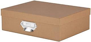 S.O.H.O.-Boîte de rangement en carton avec poignée- Kraft