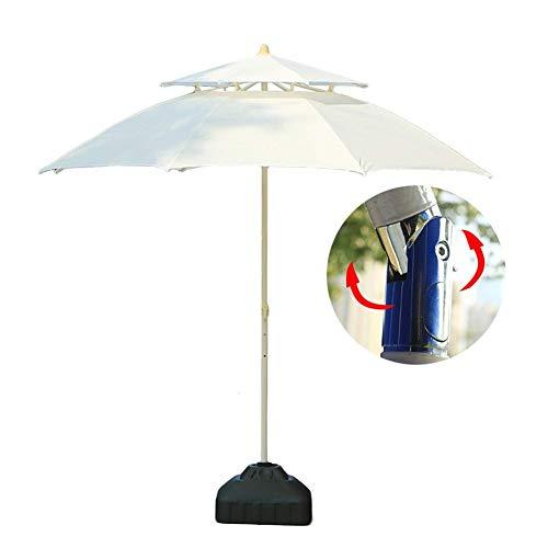 GBTB Sombrillas Sombrilla de jardín para Patio de 7.5 pies / 230 cm con inclinación de botón, Patio al Aire Libre, Mercado de Eventos comerciales en la Playa, Camping, Lado de la pi