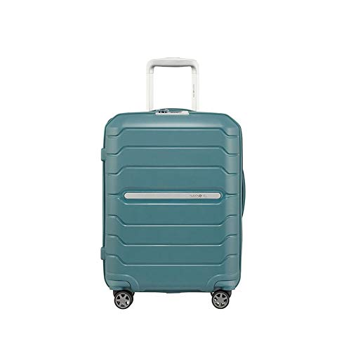 Samsonite Flux Spinner Hand Baggage, 55 cm 44 Litres, Blue (Arctic Blue)